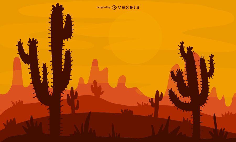 Projeto de ilustração do deserto