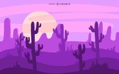 Ilustración de cactus del desierto