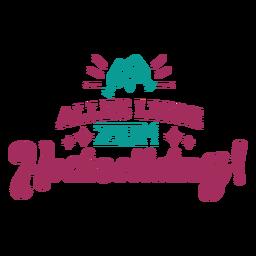 Alles liebe zum hachreitstag deutscher Textglasherzaufkleber