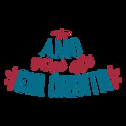 Amo voce ate em orbita pegatina de texto en portugués