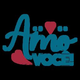 Pegatina corazón amor texto en portugués