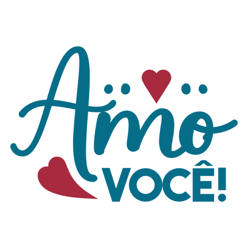 Amor voce portuguese text heart sticker