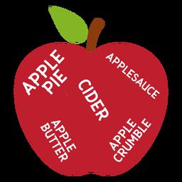 Torta de maçã folha maçã maçã cidra maçã manteiga crumble plana
