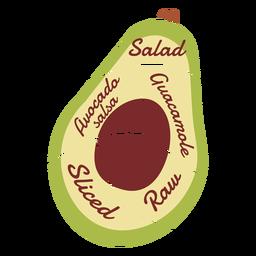 Salada de abacate pedra guacamole cru cortado salsa plana