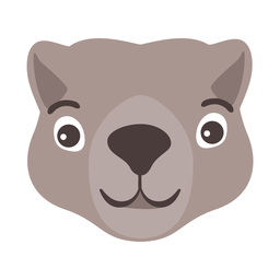 Beaver head flat sticker