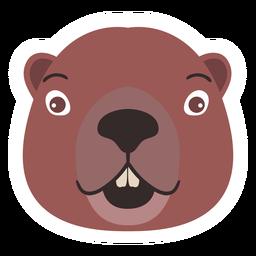 Beaver head tooth flat sticker