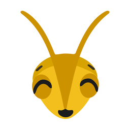 Bee head wasp flat sticker