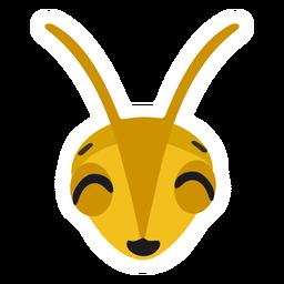Bee head wasp flat sticker