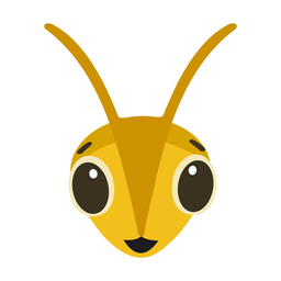 Bee wasp happy head flat sticker