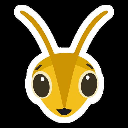 Autocolante de vespa de abelha feliz cabeça plana Transparent PNG