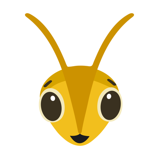 Bee wasp happy head flat sticker Transparent PNG