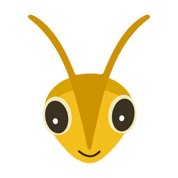 Bee wasp head flat sticker