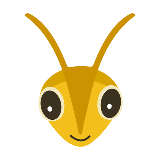 Bee wasp head flat sticker Transparent PNG