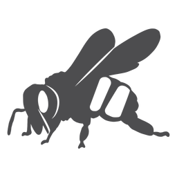 Bee wing stripe wasp silhouette
