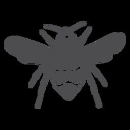 Silhueta de listra de vespa de asa de abelha
