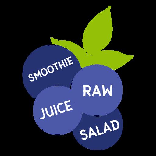 Smoothie de folha de mirtilo salada de suco cru plana Transparent PNG
