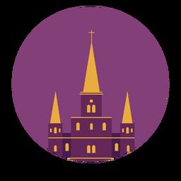 Catedral de saint louis nova orleans atravessar telhado edifício plano
