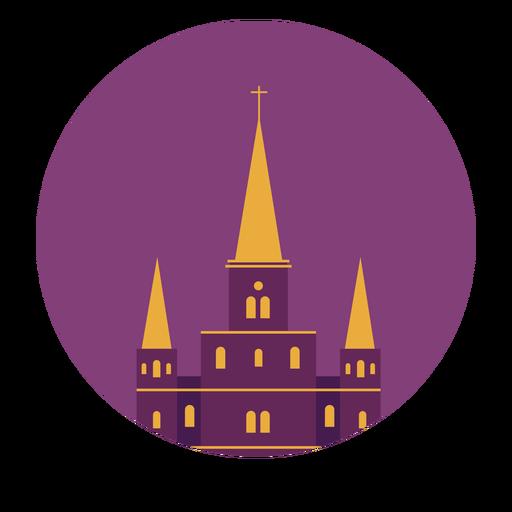 Catedral saint louis nueva orleans techo cruzado edificio plano Transparent PNG