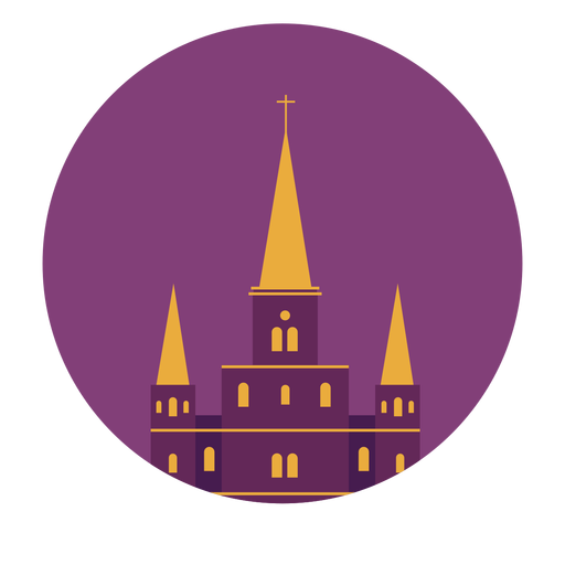 Cathedral saint louis new orleans cross roof building flat Transparent PNG