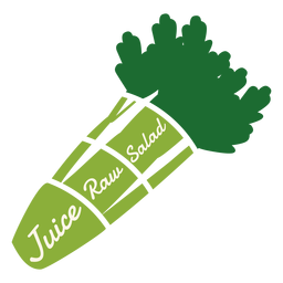 Celery juice raw salad flat