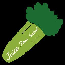 Salada crua de suco de aipo plana