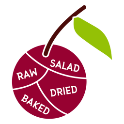 Cherry leaf salad raw dried baked flat