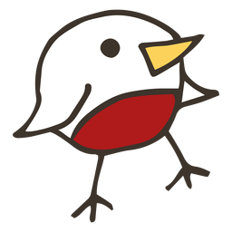Boceto de ala de pico de pollo