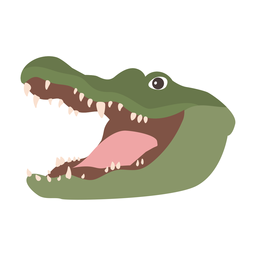 Crocodilo jacaré fang flat sticker