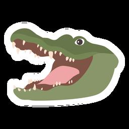 Pegatina plana cocodrilo cocodrilo colmillo