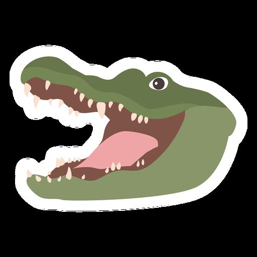 Pegatina plana cocodrilo cocodrilo colmillo Transparent PNG