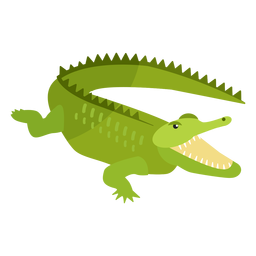 Crocodile alligator jaws tail fang flat