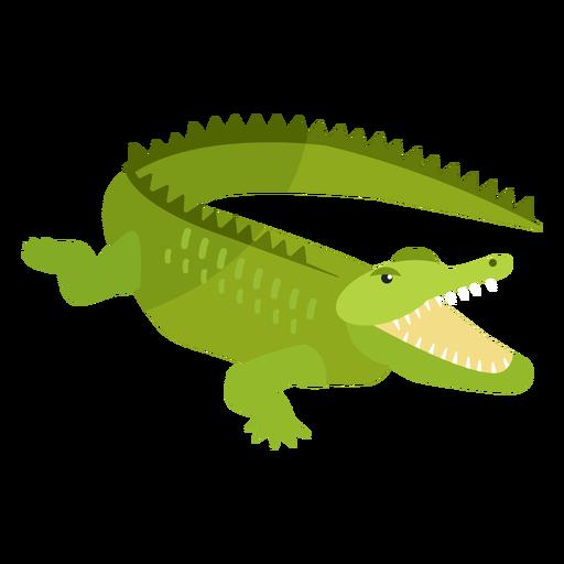 Crocodile alligator jaws tail fang flat Transparent PNG