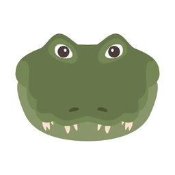 Crocodile head alligator fang flat sticker