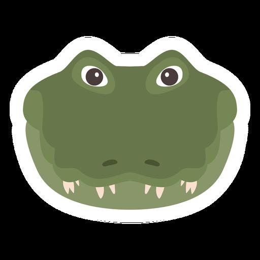 Pegatina plana cocodrilo cabeza cocodrilo colmillo Transparent PNG