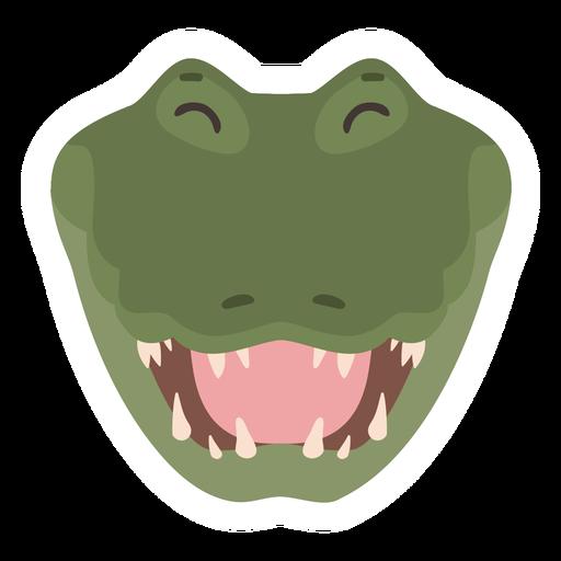 Crocodile laugh alligator fang flat sticker Transparent PNG