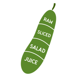 Suco de salada de pepino cru em fatias plana