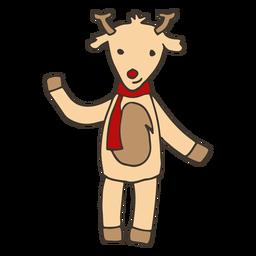 Boceto de pezuña de cuerno de ciervo.