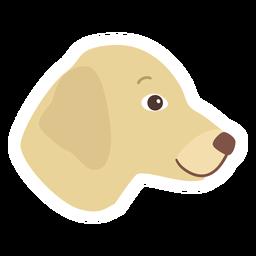 Pegatina plana oreja de cachorro de perro