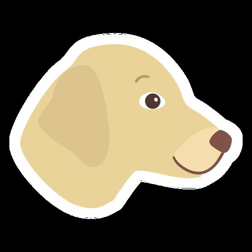 Dog puppy ear flat sticker Transparent PNG