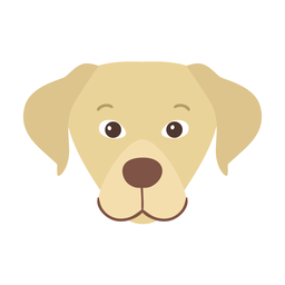 Dog puppy flat sticker