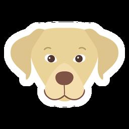 Pegatina plana cachorro de perro