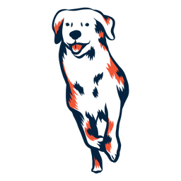Perro cachorro ejecutar carrera duotono