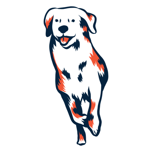 Dog puppy run stroke duotone Transparent PNG