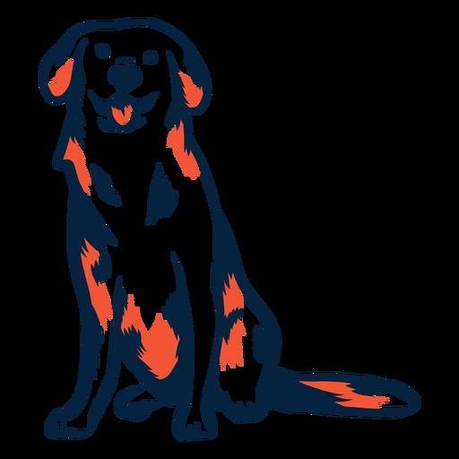 Cachorro cachorro sentado duotone do curso Transparent PNG