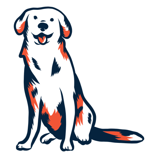 Hundewelpensitzender Anschlag Duotone Transparent PNG