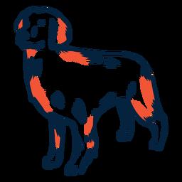 Perro cachorro accidente cerebrovascular duotono
