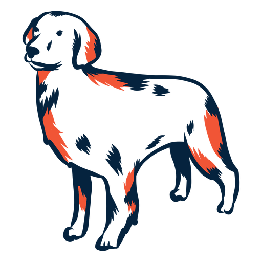 Dog puppy stroke duotone Transparent PNG