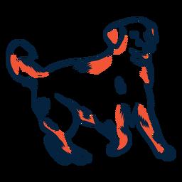 Perro cachorro cola trazo duotono