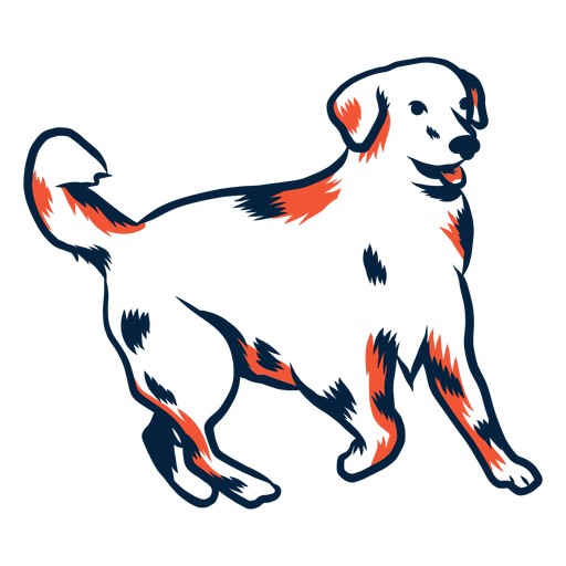 Dog puppy tail stroke duotone Transparent PNG
