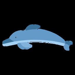 Golfinho flipper cauda natação plana arredondada geométrica